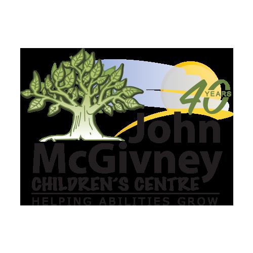 John McGivney Children's Centre's 40th Anniversary logo