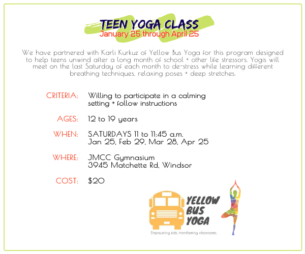JMCC - Teen Yoga Classes @ JMCC