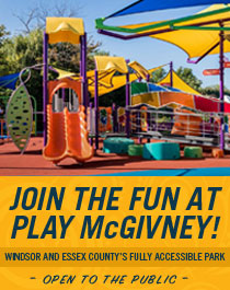 Join the fun at Play McGivney! Windsor and Essex County's fully accessible park. Open to the public.
