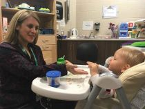 Occupational Therapist works with JMCC client