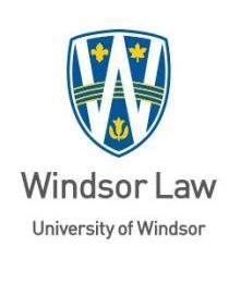 University of Windsor Law logo