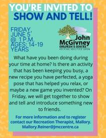 Show and Tell flyer