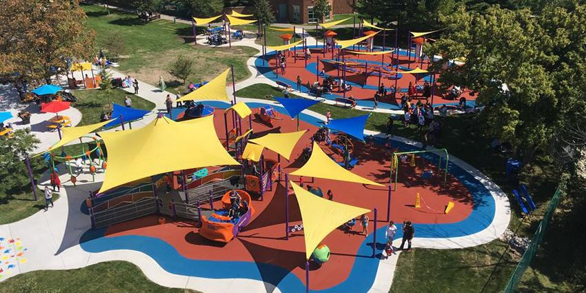 Play McGivney Accessible Park overhead view