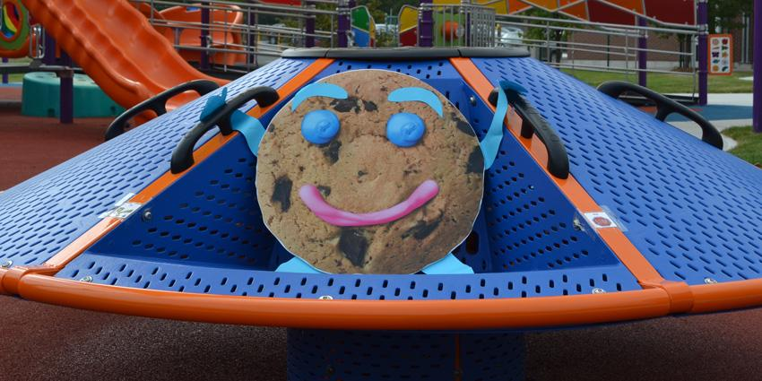 Smile Cookie Cutout on McGivney Playground