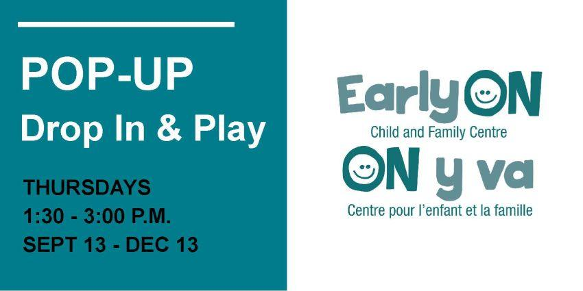 Pop-Up Drop In & Play flyer