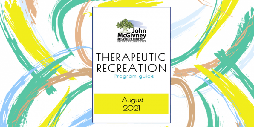 August Therapeutic Recreation Program Guide