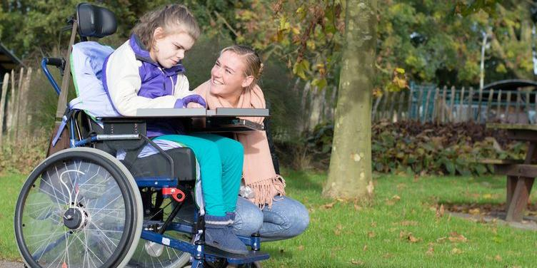 young girl in wheelchair